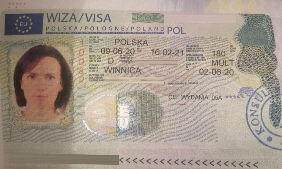 полугодовая рабочая виза в Польшу категория D 05a