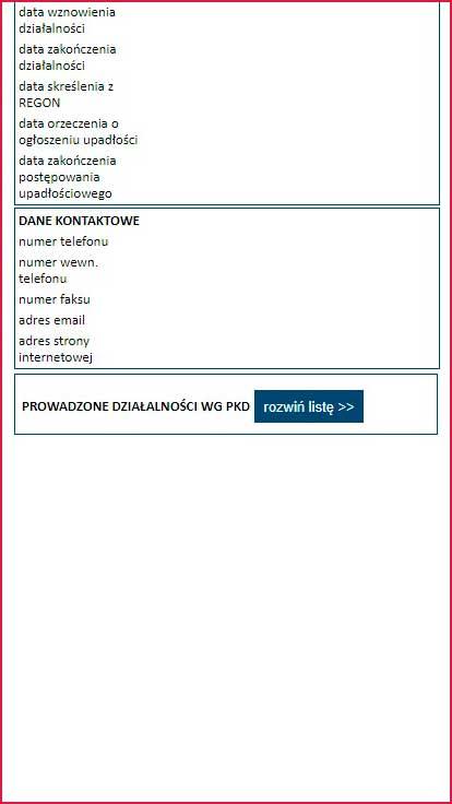 Проверка по базе данных REGON